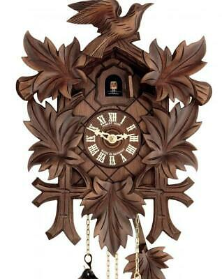 Quail-cuckoo clock, hand-carved, with mechanical 8-days-movement, 114/8