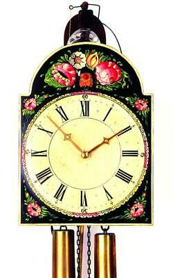 Hand-painted shield cuckoo clock with mechanical 8-days-movement, 3402