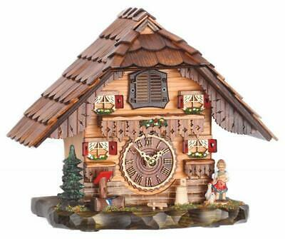 Chalet table cuckoo clock with quartz movement and music, 486 QM