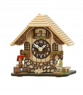 Small cuckoo clock, chalet style with quartz movement, 085 Q