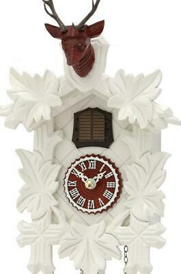 Modern cuckoo clock carved style with quartz movement, 371/20 Q red