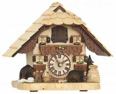 Chalet table cuckoo clock with quartz movement and music, 4203 QM
