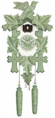 Cuckoo clock carved style with quartz movement, 350/20 Q green/white