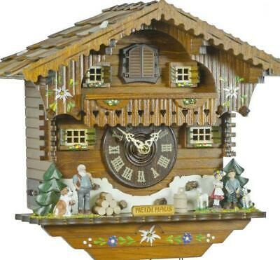 Hand-painted Chalet cuckoo clock with quartz movement, 405 Q