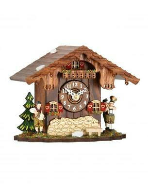 Small cuckoo clock, chalet style with quartz movement, 083 Q