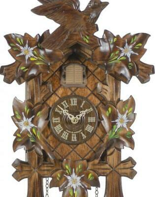 Hand painted, cuckoo clock carved style with quartz movement, 353 Q