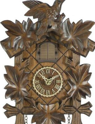 Cuckoo clock carved style with quartz movement and music, 412 QM