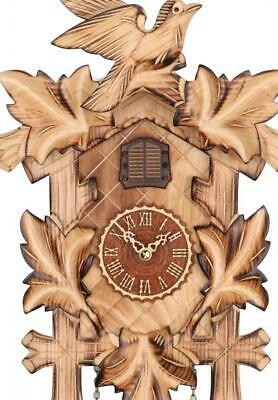 Cuckoo clock carved style with quartz movement and music, 374 QM HZZG