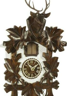 Cuckoo clock carved style with quartz movement and music, 373 QM HZZG