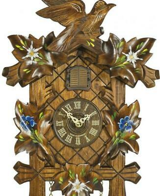 Hand painted, cuckoo clock carved style with quartz movement, 357 Q