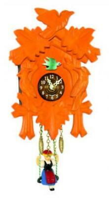Small cuckoo clock with swinging doll and quartz movement, 2002 SQ orange