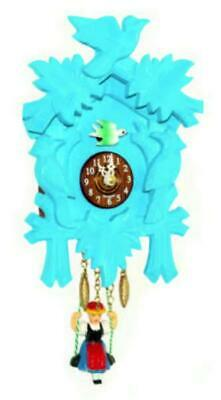Small cuckoo clock with swinging doll and quartz movement, 2002 SQ blue