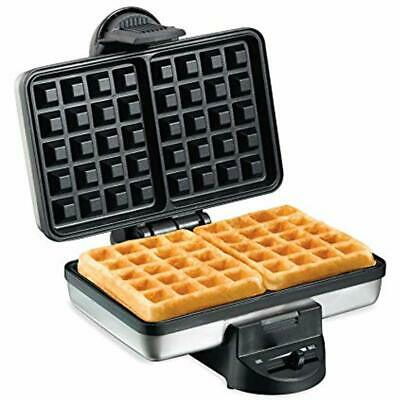 Hamilton Beach 26009 Nonstick Belgian Waffle Maker, Easy Use, Clean Store, Steel