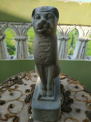 Antique Statue Rare Ancient Egyptian Pharaonic BASTET STATUS Ubaste Cat Stone