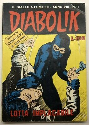 DIABOLIK  Anno VIII n°11 del 26 maggio 1969 - Lotta implacabile - NO CARTE