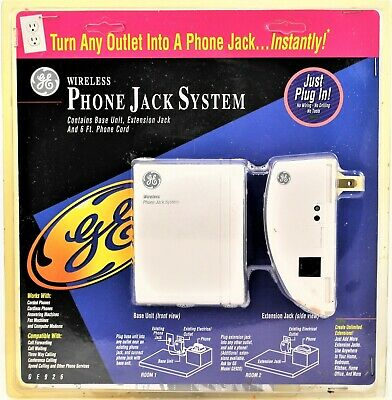 GE Wireless Phone Jack System GE926 1995 Turn Your Phone Into a Phone Jack