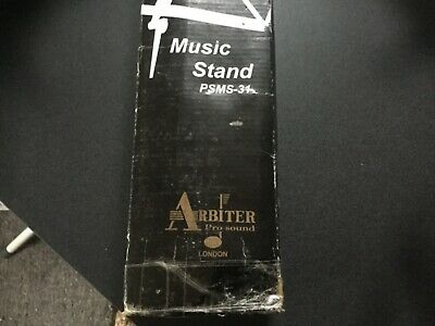 ARBITER PRO SOUND. Music Stand with Height and Angle Adjustment