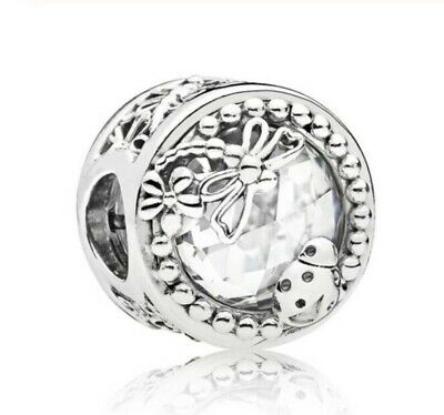 925 Sterling Silver CHARM Enchanted Nature With Ladybird & Dragonflies Beads