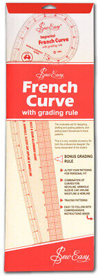 Sew Easy NL4198 | Acrylic Imperial French Curve with Grading Grid