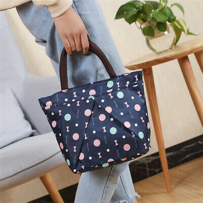 Insulated Lunch Bag Tote Thermal Cooler Picnic Travel Food Box Handbag CZ