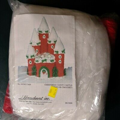 Christmas Candy Castle, knit or crochet, Herrschners, 58780//7808
