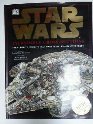 Star Wars Incredible Cross Sections Vehicles & Spacecraft Hardcover Book Drawing