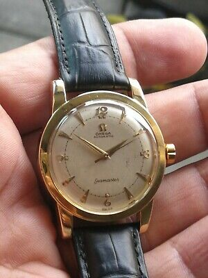 Vintage OMEGA Seamaster  -14 Gold Capped Automatic Watch CAL 354 1950'S