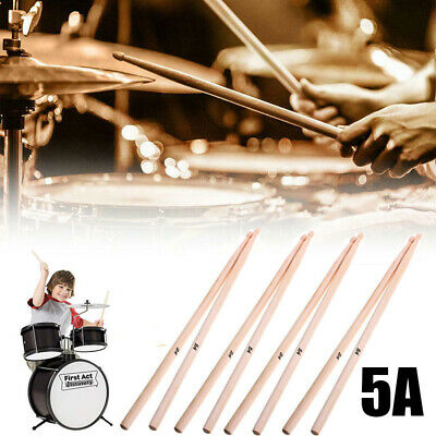10 Pair Wooden Personalised Drumsticks 5A Drum Sticks for Music Band Drum Set