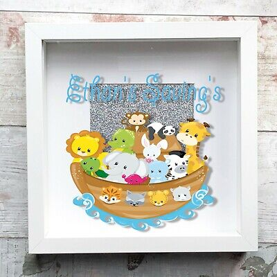 Personalised Noahs ark Kids Baby VINTAGE ENAMEL METAL TIN SIGN WALL PLAQUE