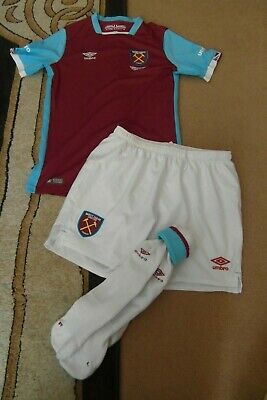 Children West Ham United Home football Kit 2016 -17 Size 152 CM Chest Size 18""