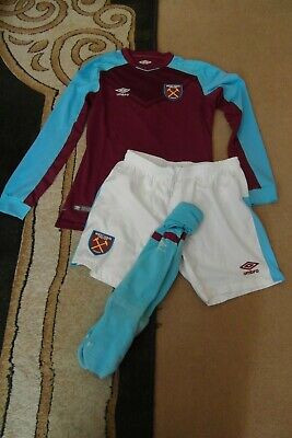 Children West Ham United Home football Kit 2017 -18 Size 152 CM Chest Size 18""