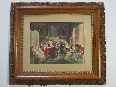 Masterful Antique 19Th Century Painting Interior Portrait Estate Heirlooms Old