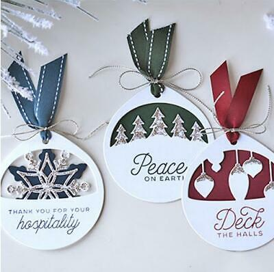 Christmas Tag Dies Metal Cutting Dies DIY Scrapbooking Bookmark Die Cut Stencil