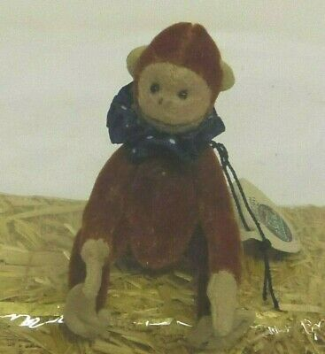 Max Ganz Cottage Collectibles miniature 4n jointed Monkey with Clown collar 7016