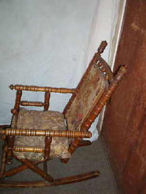 """Child's """"Spool"""" rocking chair from the 1800's"""