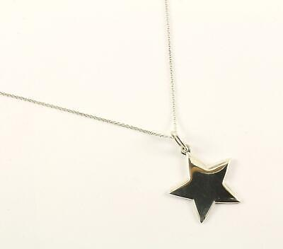Authentic Tiffany & Co Star Design Pendant Necklace Sterling Silver NC 1374