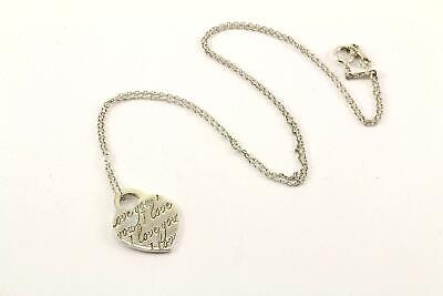 Authentic Tiffany & Co. Notes I Love You'' Pendant Necklace NC 1372