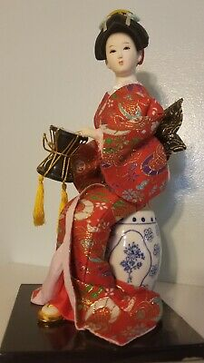 "Beautiful Handmade Asian Collection Japanese GEISHA Doll - 11.5"" inches size"