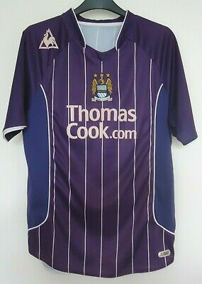 Manchester City  Football  Shirt By Le Coq Sportif  Size M -Seasons 2007/08