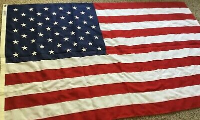 American Flag, 50 Woven Stars, Sewn Stripes, Tough-Tex, Polyester, Made In USA