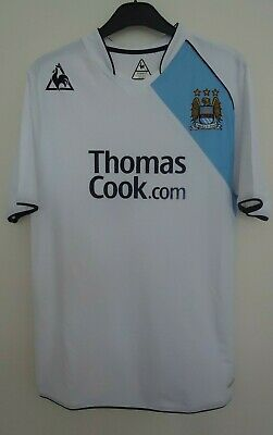 Manchester City Third Football  Shirt By Le Coq Sportif  Size L -Seasons 2007/08