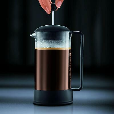 Bodum Brazil French Press Coffee Maker, 34 Ounce, 1 Liter, 8 Cup, Black New Box