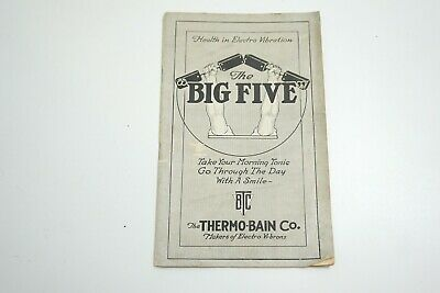 Antique 1890'S Thermo-Bain Co The Big Five Electro Vibration Quack Medicine Book