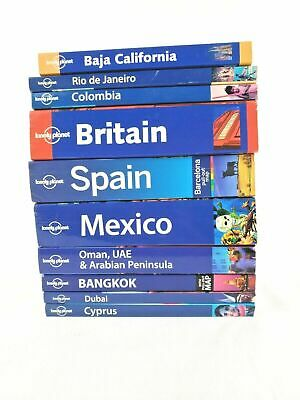 Lonely Planet Lot Of 10 Travel Guides and resorces