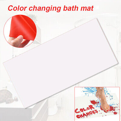 Halloween Bloody Bath Mat Color Changing Sheet Turns Red When Wet Bathroom Tool