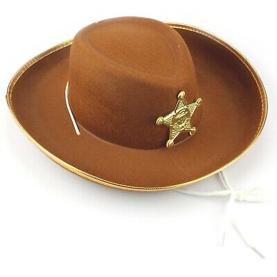 Child's Size Toy Story Woody Style Sheriff Cowboy Hat Western Costume Party