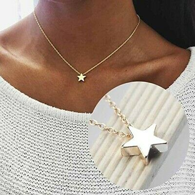 Tiny star Choker Necklace for Women Gold  Chain Small Love Necklace Pend