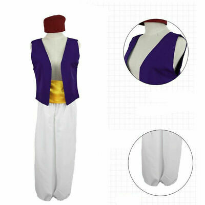 Cartoon Animation Aladdin Prince Cosplay Costume Men Cosplay Clothes 4 Pcs Set