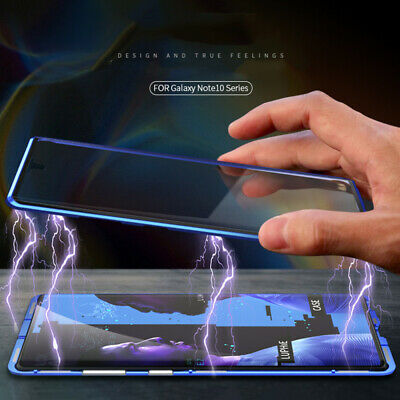 Double Sides Tempered Glass Magnetic Case Cover For Samsung Galaxy Note 10 Plus