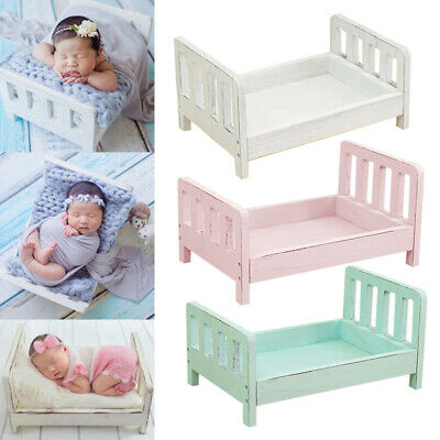 1x Baby Wooden Bed Gift Photo Prop Posing Portable Durable Photography Shotting